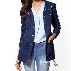 Style & Co Navy Utility Jacket Size XL
